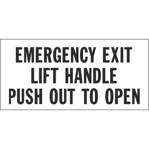 Emergency Exit Lift Handle Push Out to Open