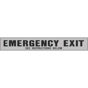 Emergency Exit See Instructions