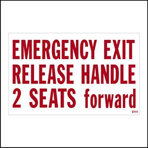 Emergency Exit Release Handle
