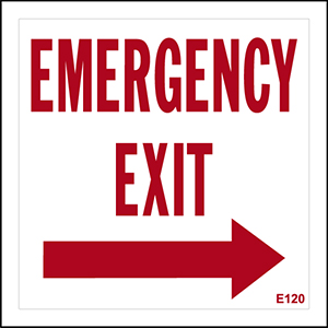 Emergency Exit With Right Arrow