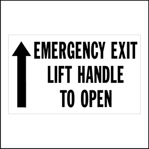 Emergency Exit Lift Handle To Open